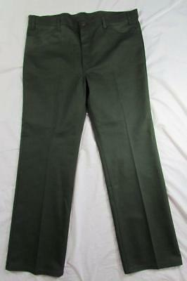 Vtg 80s Levi Sta Prest Green Twill 517 Boot Cut Pants Jeans 42x32.5 USA Made