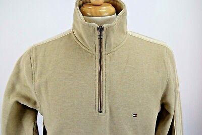 Tommy Hilfiger Men's Pull Over Long Sleeve Sweater Size Medium 1/4 Zip Up Polo