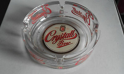 Portacenere/posacenere-Crystall Beer-Advertising Ashtray-Glass