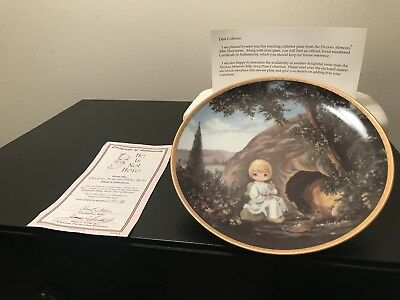 """Precious Moments """"He Is Not Here"""" Bible Story Plate Collection"""