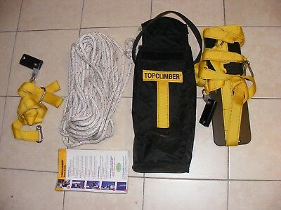 Atn Topclimber Sail Boat Mast Climbing System  With  50 Ft 7/16  Static Line Ec!