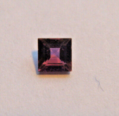 Rhodolite Garnet Princes Cut Gemstone 3 mm 0.15 Carats Natural Gem faceted stone