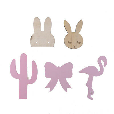 cute bunny wooden clothes hook for kids room wall decorate hanger hook decor FO