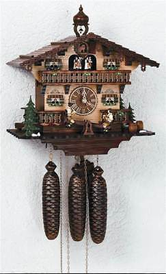 8-Day 13 in. Black Forest House Clock [ID 93494]