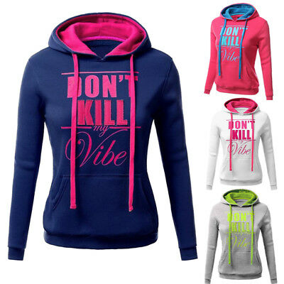 Women Sweater Hoodies Sweatshirt Pullover Jumpers Outwear Jacket Tops US Seller