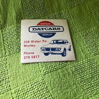 """Collectable drink coaster-""""DATSUN  DATCARS MORLEY"""""""