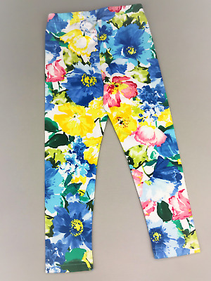 POLO RALPH LAUREN LEGGINGS Girls Bright Floral Stretch 9M, 3/3T & 4/4T, S (7)