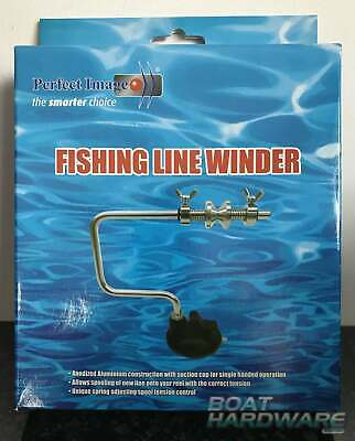 Portable Aluminum Fishing Line WINDER Spooler Compact Tackle with suction cup