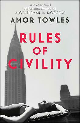 Rules of Civility by Amor Towles (English) Paperback Book Free Shipping!
