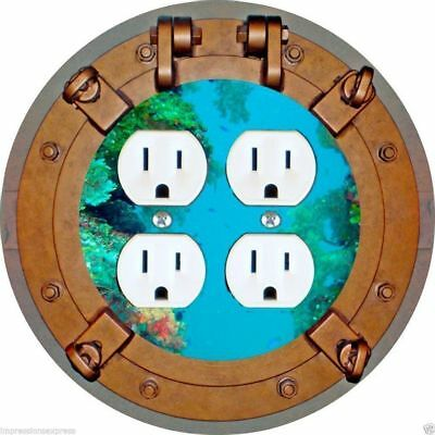Porthole Nautical Double Duplex Outlet Plate Cover