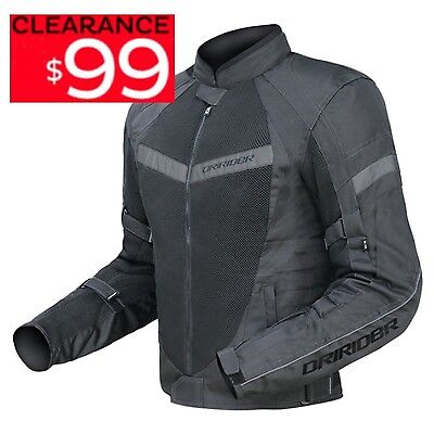 DRIRIDER AIR RIDE 2 MOTORCYCLE JACKET NEW BLK CLEARANCE! Summer Dry rider road