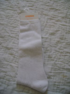 NWT New Gymboree Knee High Girls WHITE Socks Shoe Size 3 4 5 NEW