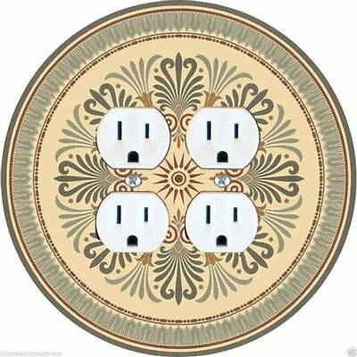 Victorian Ornament Double Duplex Outlet Plate Cover