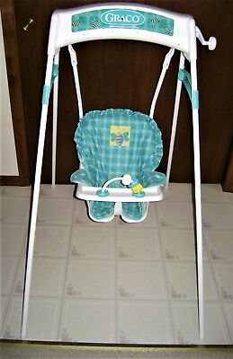 Graco Baby Swing Vintage Wind Up Crank Works Great Excellent Condition CLEAN
