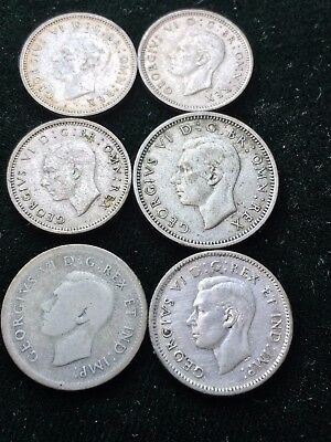 Great Britain and Canada Silver Coin lot.