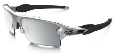 NEW Oakley Dark Ink Flak Jacket 2.0 XL Silver Chrome Iridium POLARIZED OO9188-31
