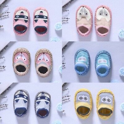 Baby Non-Slip Shoes Socks Kids Toddler Boots Home Slippers Girl Boy 0-24 Months