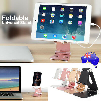 Universal Folding Aluminum Tablet Mount Holder Stand For iPad iPhone Samsung AU