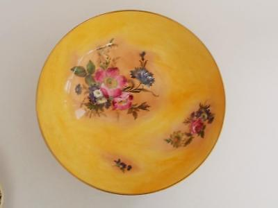 Large Caverswall Footed Bowl.Signed by Artist W.R.Tipton.