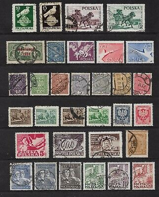 POLAND - mixed collection No.43, early, incl Challenge 1934 opt, used