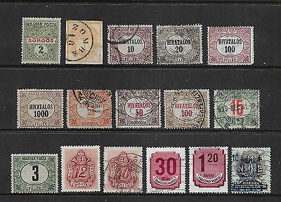 HUNGARY - mixed Back of Book, 1874-1951 Express Newspaper Official Postage Due
