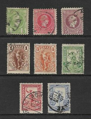GREECE - mixed collection, 1886 & 1901 issues, used