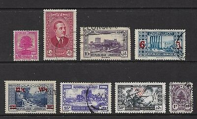 LEBANON mixed collection No.5, 1937-1946, incl surcharges, used