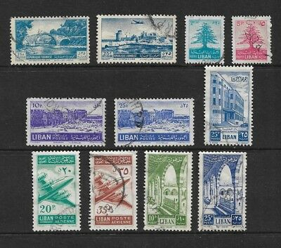 LEBANON mixed collection No.7, 1951-1954, used