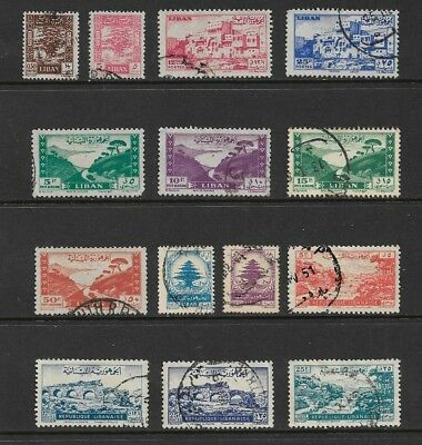 LEBANON mixed collection No.6, 1947-1948, used