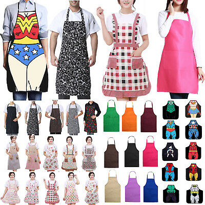 5 Types Apron Washable Cotton Pocket Butcher Waiter Chef Kitchen Cooking Unisex