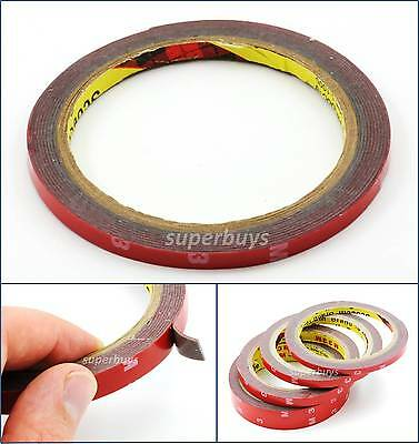 6mm 3M Automotive Car Vehicle Acrylic Foam Double Sided Adhesive Attaching Tape