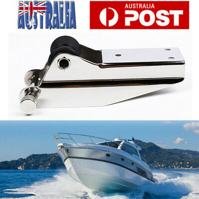 316 Stainless Steel Marine Boat Bow Anchor Self Launching Fixed Nylon Roller OZ