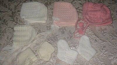 Baby Bonnets and booties for your Dollies