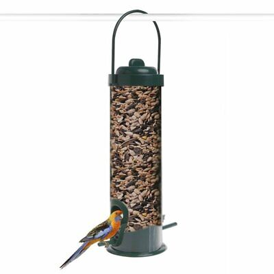Transparent Hanging Wild Bird Feeder Seed Container Storage For Outdoor Garden