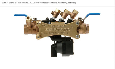 34-375Xl Reduced Pressure Backflow Preventer