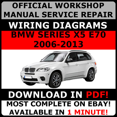 # OFFICIAL WORKSHOP Repair MANUAL for BMW SERIES X5 E70 2006-2013 WIRING #