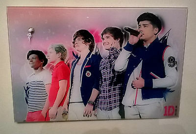 One Direction (1D) Rare Nice Quality Glass Wall Clock, Early Xfactor Picture