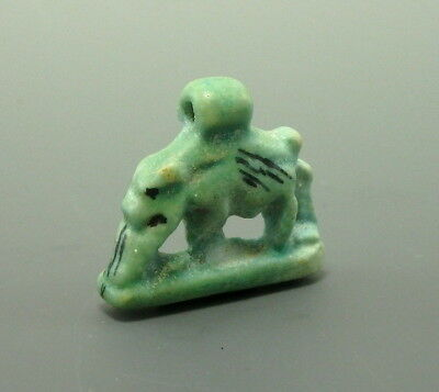 Egyptian Faience Sky Goddess Nut As Sow. Unusual Type (L490)