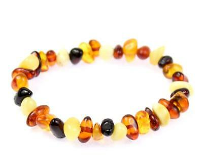 100% Genuine MIX Amber Child Anklet/Bracelet Elastic from UK Dristributor