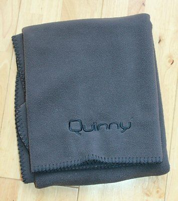 Quinny Buzz Moodd Zapp Dreami Or Foldable Genuine Fleece Blanket Charcoal Grey