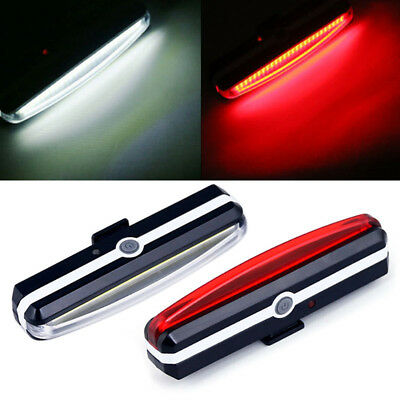 USB Rechargeable LED Bicycle Bike Cycling Front Rear Tail Light Lamp Waterproof