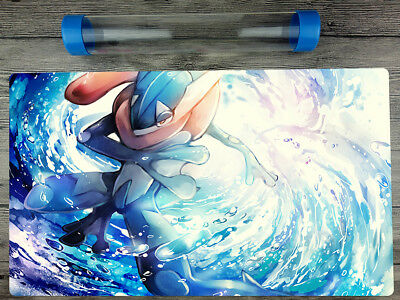 Pokemon Eevee YuGiOh Playmat Trading Card Game Custom TCG Mat Free Best tube