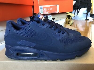 26a233f9 Nike Air Max 90 Hyperfuse Independence Day Midnight Navy 613841 440 size 9
