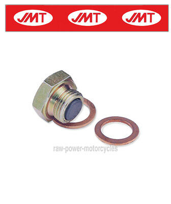 Suzuki SV1000 U2 2004 Magnetic Oil Sump Plug Bolt /Washer x2 (495075)
