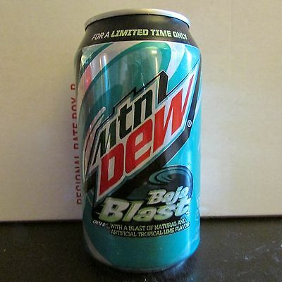 1 Mountain Dew Baja Blast Taco Bell Can 12 oz Full Free Shipping Soda pop MTN