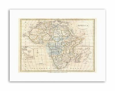 1799 CLEMENT CRUTTWELL MAP AFRICA Vintage Canvas art Prints