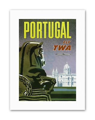 TWA TRANS WORLD AIRLINE PORTUGAL Advertising Travel Retro Canvas art Prints