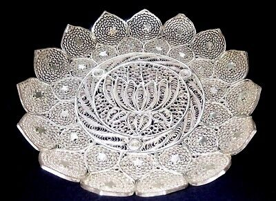 Indian Beautiful Filigree Work Lily Pierced Bowl