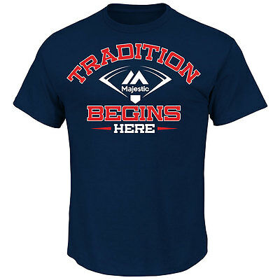 Majestic Triple Peak - Tradition Begins Here - Officially licenced MLB T shirt