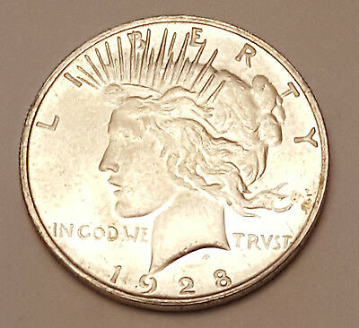 Two Sided 1928 Peace Silver Dollar Coin Double Headed Coin
